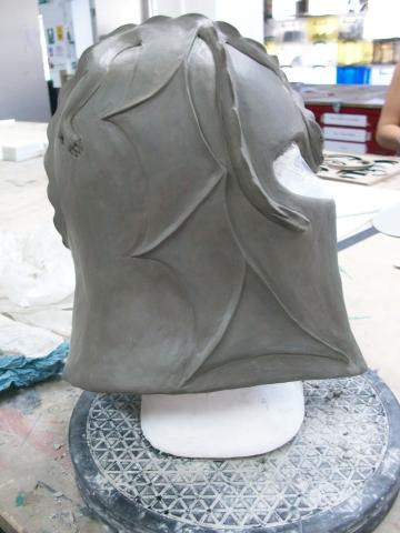 Dragon helmet sculpt clay