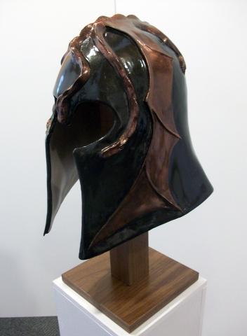 Three-headed dragon helmet