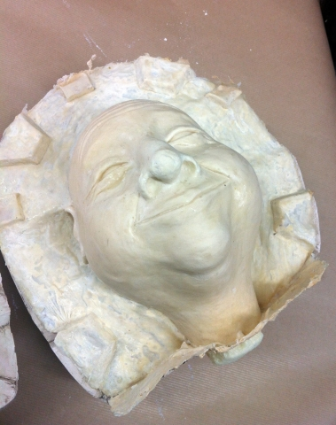 Latex & J-foam puppet head cast