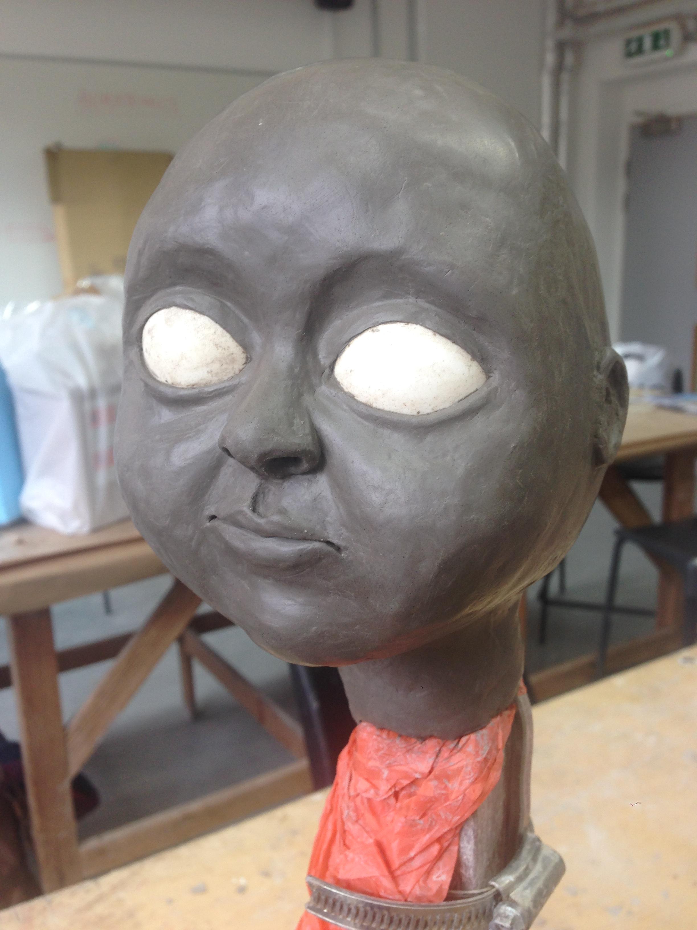 'Lulu' puppet head sculpt