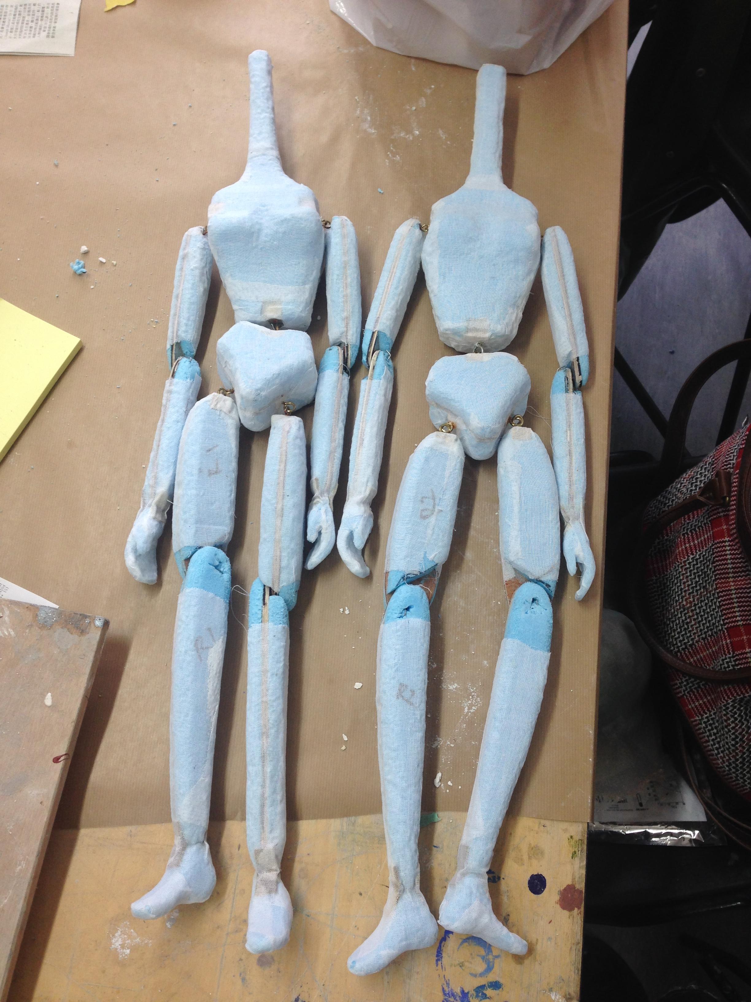 lulu puppet bodies styrofoam