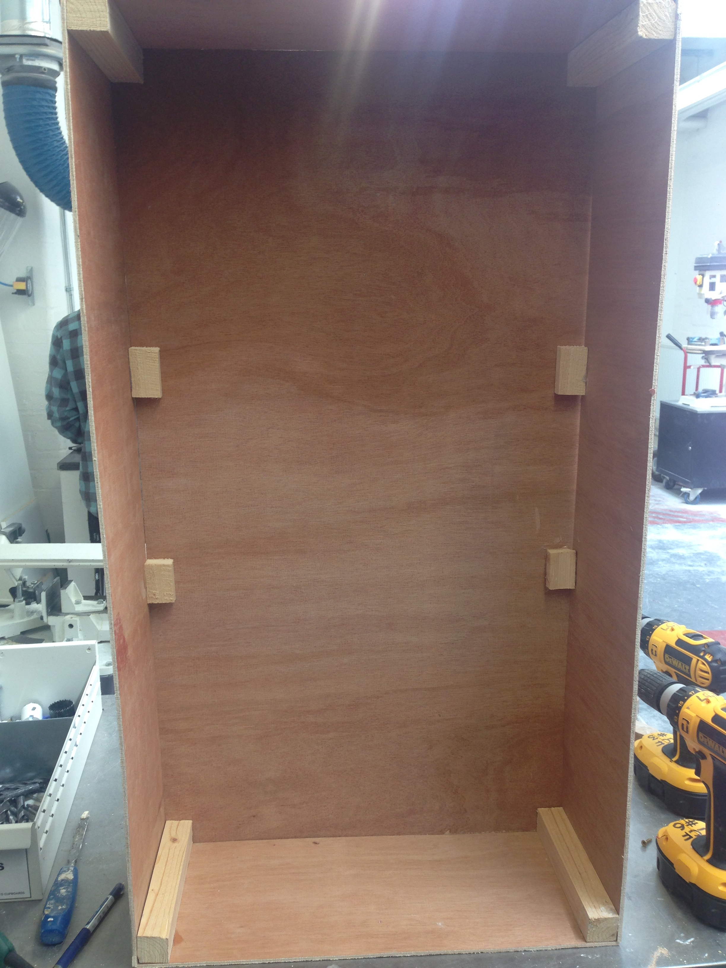 Plywood box/frame construction woodwork