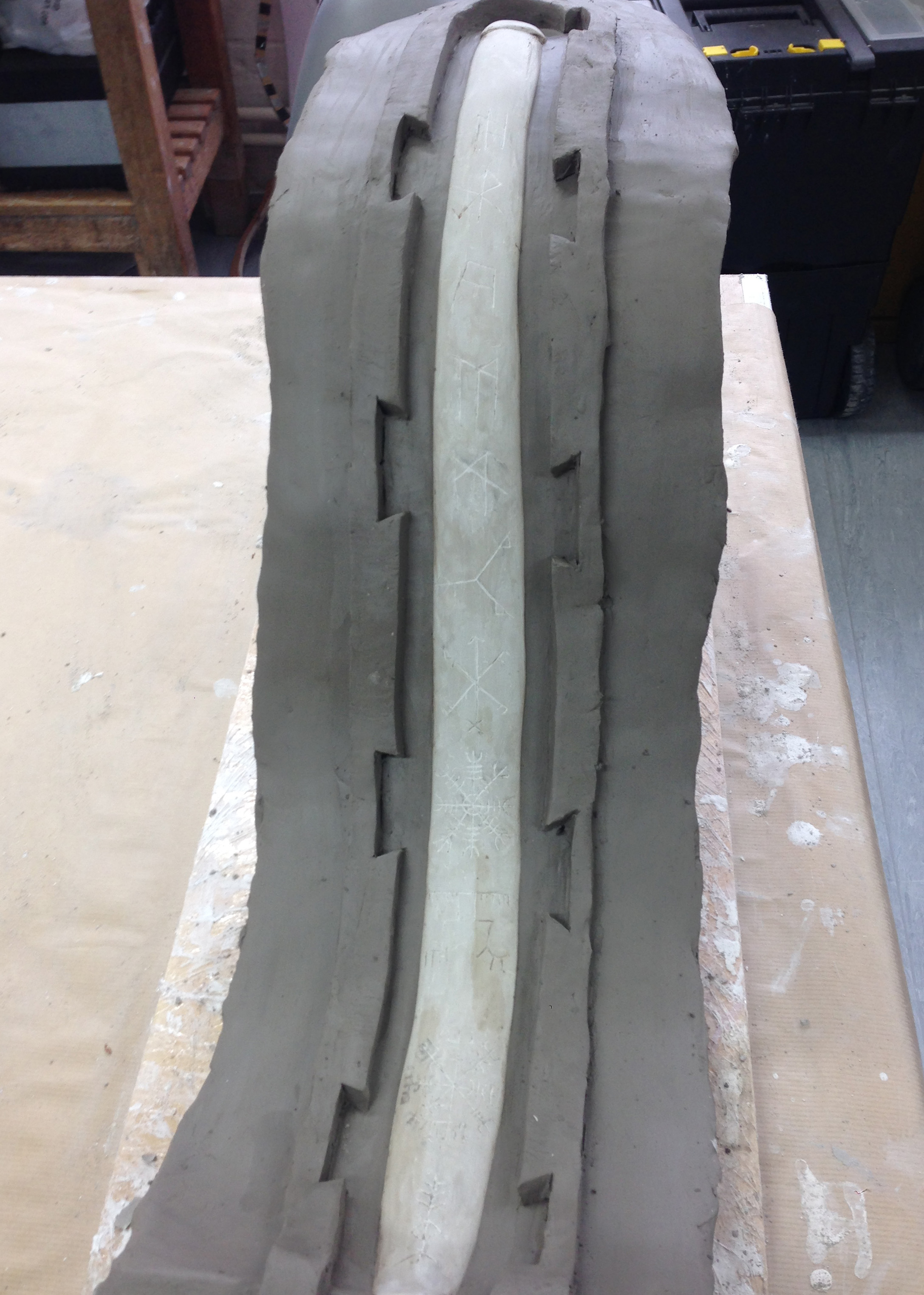 clay walling silicone mould