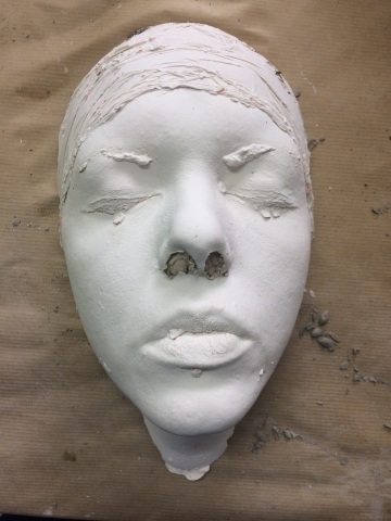 Plaster face life cast