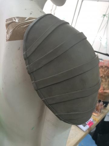 Pauldron shoulder armour plate