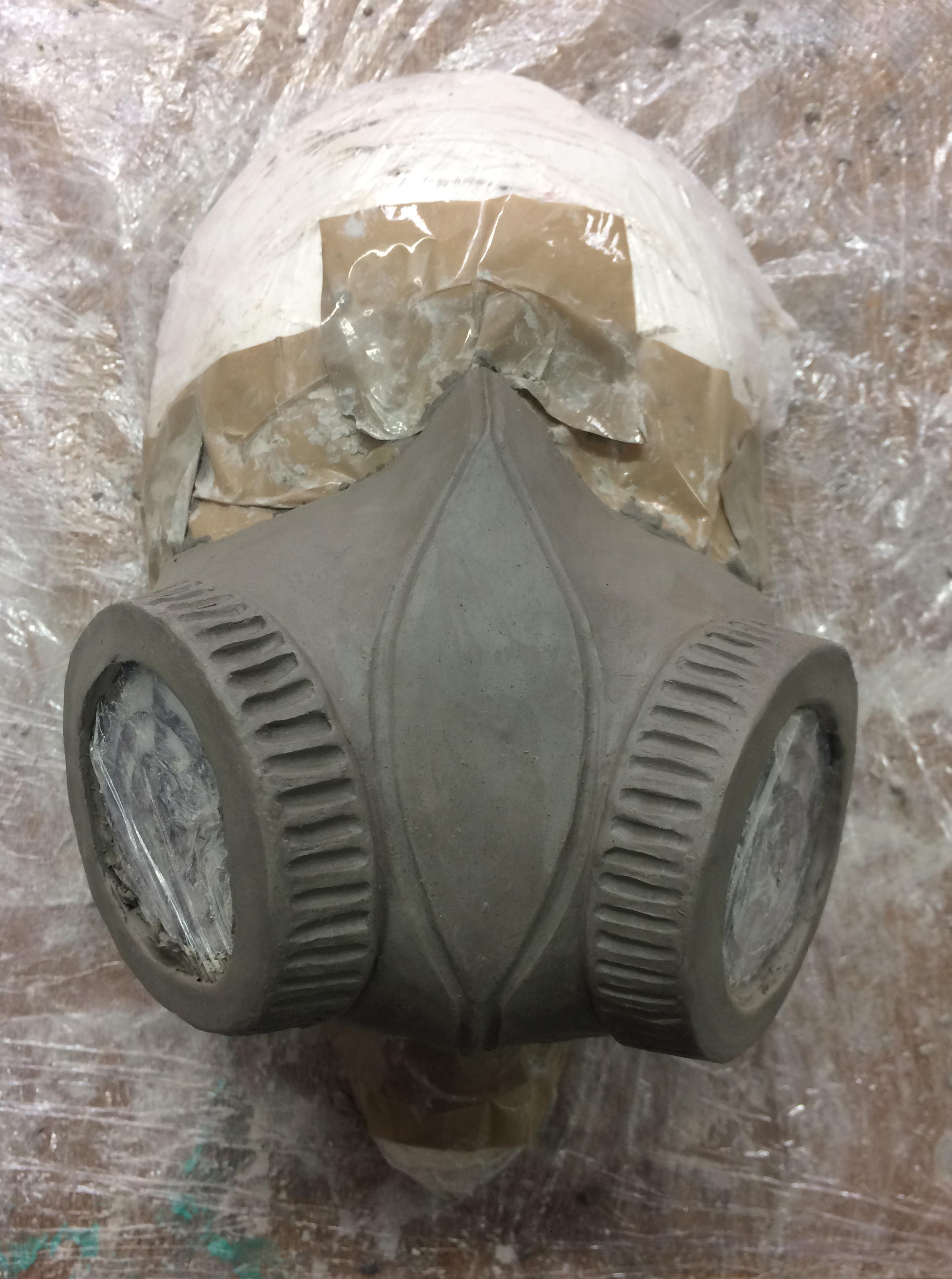 Respirator mask clay sculpt