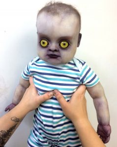 Changeling baby silicone full body prop Dreams and Shadows